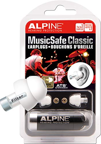 Alpine MusicSafe Classic - Protección auditiva (con filtro), color blanco