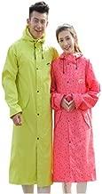 Jiansheng Regenmantel, Lange Outdoor Reiten für Herren und Damen, Wandern, Wandern, Angeln, Regenmantel, Rot, Pink, Gelb, XXL (Color : Pink, Size : XL)
