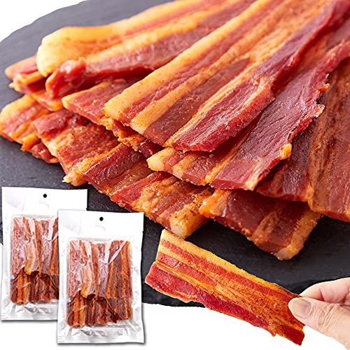 天然生活 【辛口】炙り焼き豚バラジャーキー2袋セット (160g×2袋) 豚ばら お徳用 おつまみ ポークジャーキー 肴 ビール おやつ