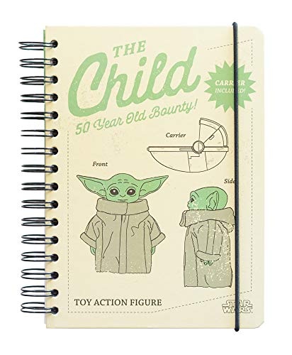 Grupo Erik Bullet Journal The Mandalorian Child Star Wars - Hard Cover Notizblock A5 Grogu Baby Yoda Ringbuch Notizbuch