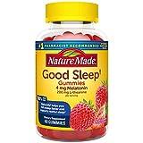 Nature Made Good Sleep Gummies, 4mg Melatonin + 200 mg L-theanine, 60 Count