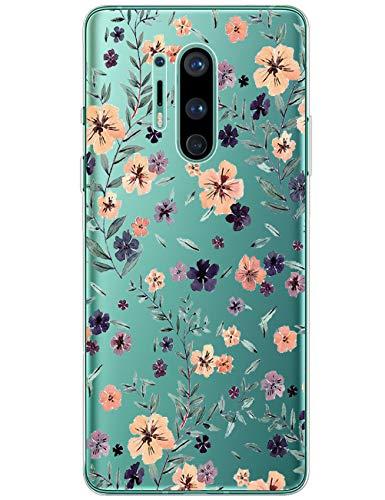 Handyhülle für OnePlus 8 Pro Hülle One Plus 8 Pro Dünn Transparent Weich Silikon TPU Bumper Case mit Nettes Cartoon Stoßfest Protective Rückschale Cover für OnePlus 8 Pro
