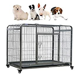 Dog Cage Large Pet Cage Pet Cage With Sunroof Balcony Animal Cage General Pet Cage With Toilet Metal Pet Cage Crates & Kennels