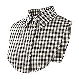 【Amazon限定ブランド】つけ襟 [Wearlizer] 付け襟 レディース シャツ 角襟 衿 ブラウス ホワイト 重ね着 ヘアーゴムー付(ブラック)