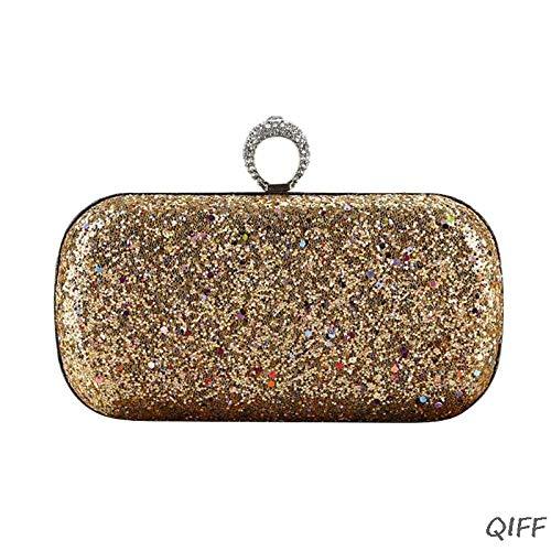 Umhängetasche Damen Clutch Partytaschen Mode Damen Glitter Clutch Bag Crystal Sparkly Abend Braut Prom Party Handtasche Geldbörse Gd