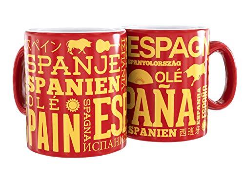 Mug Cerámica Rojo Texto España