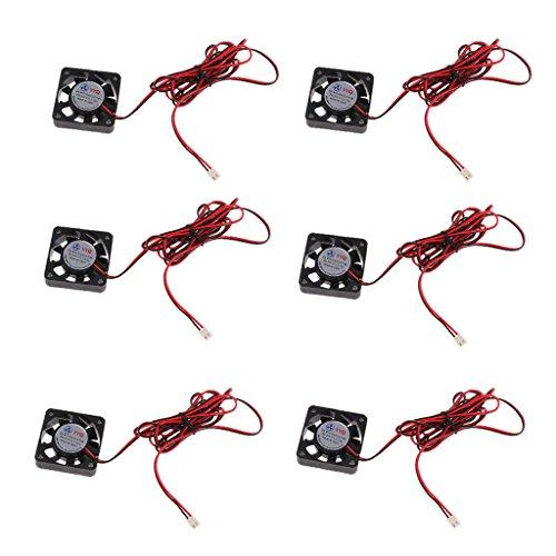 prasku 6Pcs 24V 4010 Ventilador de Enfriamiento 2-Pin 2.54 Conector para PC Unidad de Alimentación de Impresora
