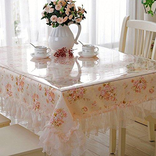 Nappe de salle à manger transparente Hjuns, résistante à la graisse et aux rayures - Étanche, PVC, transparent, 120*70cm