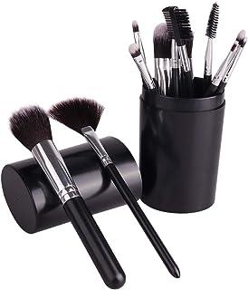 メイクブラシ 化粧ブラシ12本セット コスメブラシ 化粧筆セット フェイスブラシ アイシャドウブラシ アイシャドーブラシ メイクブラシセット 人気 高級繊維毛 旅行と贈り物に最適 (ブラック)
