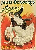Folies Bergere - Vals Merveilleuse des Dante Poster (artist: Pal Jean De Paleologue) France c. 1899 (16x24 Fine Art Giclee Gallery Print, Home Wall Decor Artwork Poster)
