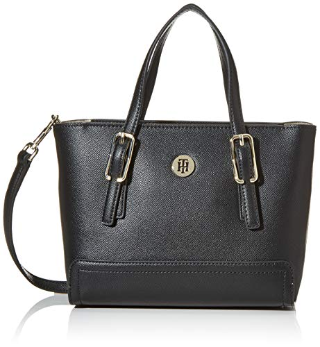 Tommy Hilfiger Damen Honey Small Tote, Schwarz (Black), 24cm x 9.5cm x 17cm
