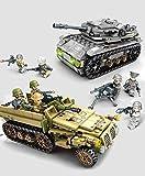 sembo 1061+pcs Blocks Kids Building Toys Boys Puzzle Military Vehicles Tank 8IN2
