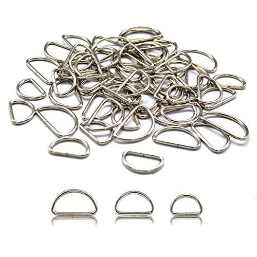 40 piezas de hebillas de metal 32 mm anillos en D para bolsos, bolso, correa, mochila (32mm)