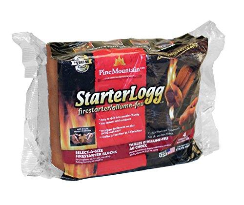 Pine Mountain StarterLogg Select-A-Size Firestarting Blocks, 24 Starts Firestarter Wood Fire Log for Campfire, Fireplace… 5