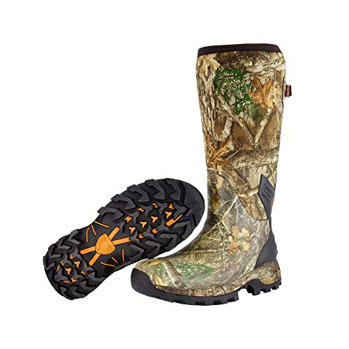 HUNTSHIELD Men's Neoprene Muck Boot | Insulated Waterproof Rubber Hunting Boot | Size 9 Camouflage