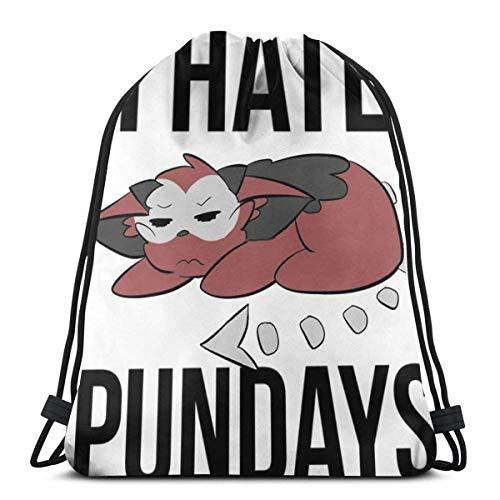 XCNGG I Hate Pundays Sport Bag Gym Sack Mochila con cordón