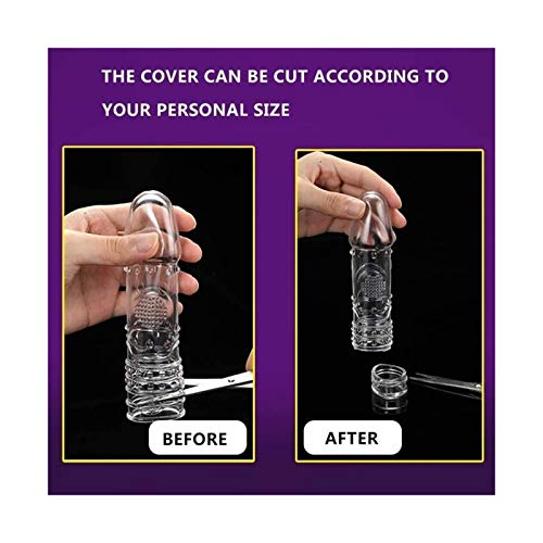 NUSHASIY Crystal Male Cover Enlarger Extender Reusable Con-Dom Sleeve Case s Enlargers for Men Women and Couples Dragon MelodyUS