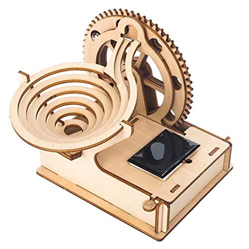 S-TROUBLE Holz Solar Track Ball DIY 3D Holz Race Run Labyrinth Puzzle Track Untersetzer Modellbau Kits Spielzeug für Kinder
