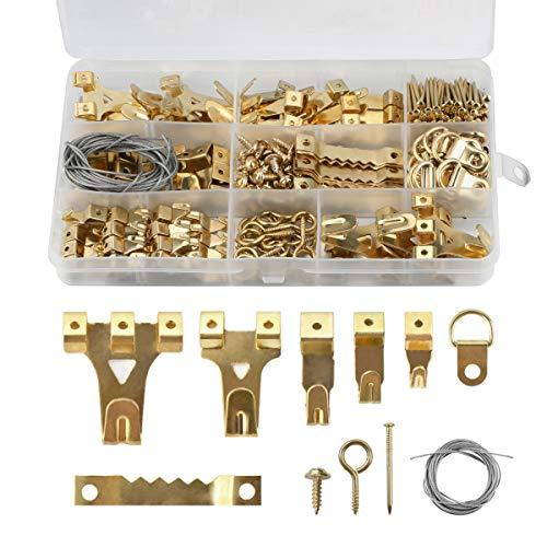 Colgadores para Cuadros 250 Piezas Colgadores de Cuadros Heavy Duty Picture Hanging Kit para Cuadros Fotos Espejo Decoración del Hogar