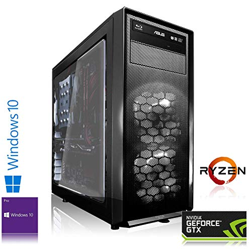 Memory PC High End PC AMD Ryzen 7 3700X 8X 4.40GHz Turbo | 16 GB DDR4 RAM | 480 GB SSD + 2000 GB HDD | NVIDIA GeForce RTX 2060 6GB 4K Gaming PC