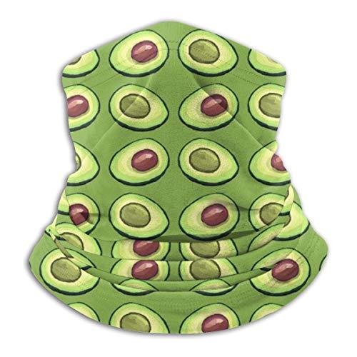 ShiHaiYunBai Tour de Cou Cagoule Microfibre Chapeaux Tube Masque Visage, Avocado Greenery Fleece Neck Warmer - Reversible Neck Gaiter Tube, Versatility Ear Warmer Headband & For Men And Women