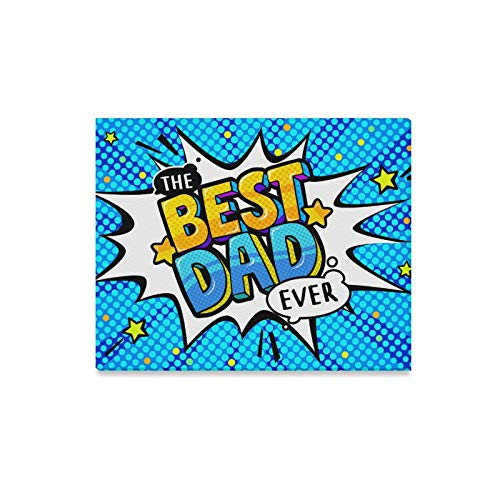 YIJIEVE Wall Art Painting Best Dad Message Sound Speech Bubble Prints On Canvas The Picture Landscape Pictures Oil for Home Modern Decoration Print Decor for Living Room