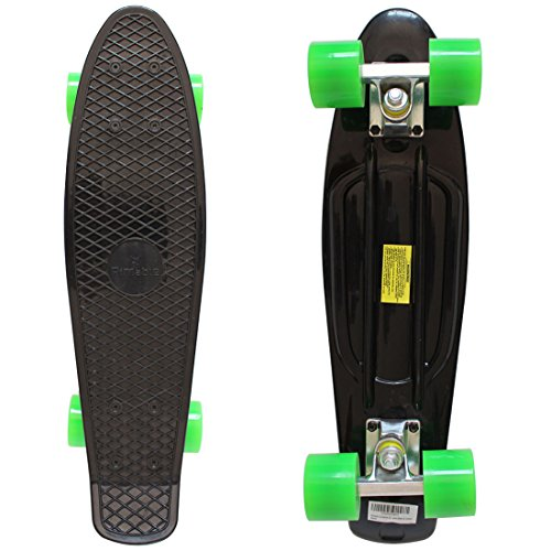 "RIMABLE Complete 22"" Skateboard (Black & Green)"