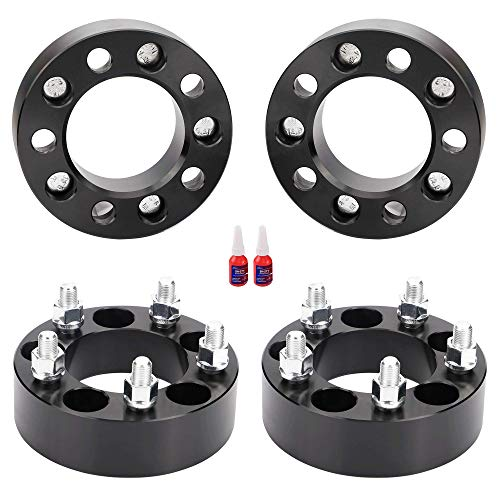 FLYCLE 4 PCS 2Inch 5x4.5 to 5x4.5 Wheel Spacers 1/2-20 Studs&82.5mm Bore Compatible with 87-06 TJ YJ,92-98 Grand Cherokee,82-12 Ranger,90-18 Explorer