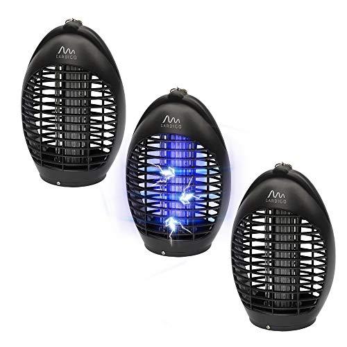 Gardigo Fluginsektenvernichter 3er Set I 3x20 m², Insektenvernichter, Insektenschutz mit UV-LED gegen Mücken
