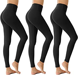 Womens High Waisted Leggings for Women-Tummy Control and Elastic Opaque Slim Pants-One/Plus Size 20+ Design