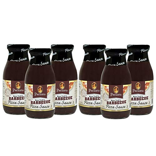 Paesana New York's Barbecue Pizza Sauce, Gluten Free, Kosher Certified, 8.5 OZ - Made in the USA. (6 Pack)