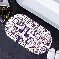 アンチスリップ丈夫な吸盤付き69×35センチメートルバスタブマット非フェージングPUスリップ耐性シャワーマット-purple