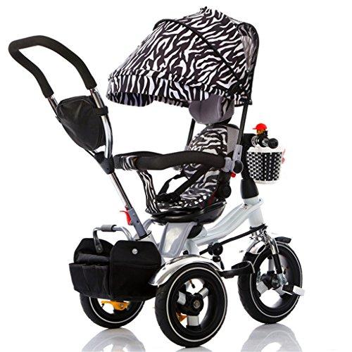 La Patrulla de la Pata del Triciclo 4-in-1 Child, Trolley Bicycle Kids Empuja los triciclos para la Bici de la Rueda del bebé 3 con el toldo Anti-Ultravioleta