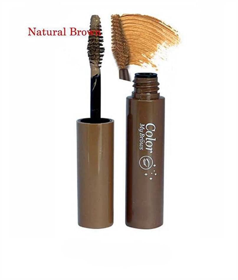 2Pcs Eyebrow Gel Tint Color Cream Eye Brow Painting Waterproof Pigment Eyebrow Make Up Cosmetics Eye Beauty (Natural brown)