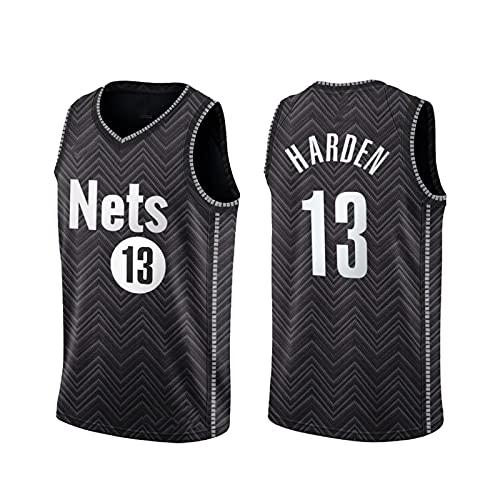 TINKOU Camiseta de la NBA sin Mangas, Chaleco Swingman de Baloncesto Transpirable de Moda # 13, Adecuado para Deportes y Camiseta de Fitness para Hombres