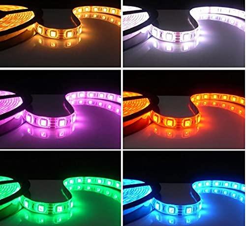 DC 5V 12V 24V LED Banda PC RGB Luz de tira LED flexible a prueba de agua 5050 5M RGB 5 12 24 V Lámpara de tira LED de cinta Lámpara de retroiluminación de TV (Color : IP20 No Waterproof)