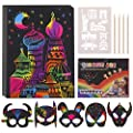 superwinky Scratch Art Sets for Kids, Best Gifts Rainbow Scratch Paper Art Set for Kids Art Supplies for Girls Age 4-12 Crafts Arts Kit Party Favors Halloween Birthday Gifts Toys for Kids