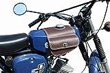 Leder Tanktasche mit Schnellverschluss Tankrucksack Tasche Packtasche Braun für Simson S50 S51 S70