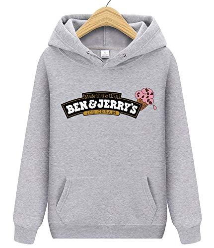 Ben & Jerry's - Sudadera unisex con bolsillo frontal para adultos y mujeres