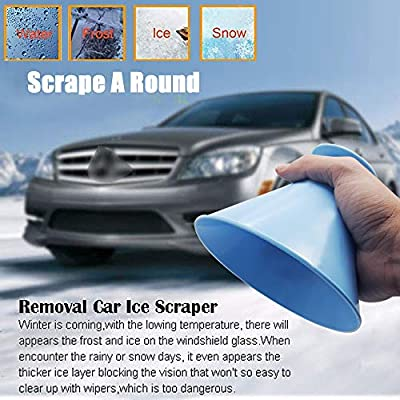 Windshield Ice Scraper Multi-Function Car Fueling Funnel Windshield Wiper Cone Shaped Outdoor Windshield Magic Snow Remover Car Tool