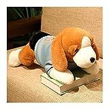 YSDSPTG Peluche poupée 40-80cm Kawaii Chien Peluche Peluche Jouet couché Beagle Chiot Chien avec des vêtements Doux oreillers Mignons poupées poupée bébé Fille Cadeau d'anniversaire
