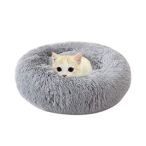 Haustierbett Soft Pet Dog Bed Bequemes Donut Cuddler Round Dog KennelSoft Washable Hunde- und Katzenkissenbett Winter Warm Sofa 40Cm Grey