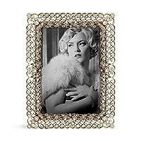 "SARO LIFESTYLE Jeweled Photo Frame, 3.5"" x 5"", Gold 141[並行輸入]"