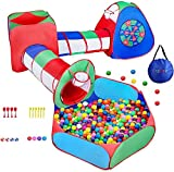 Kids Play Tents 5pcs Kids Play Tunnels Toy Tents Pop Up Tents with Storage Bag kids Playhouses Not...