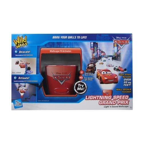 Uncle Milton - Lightning Speed Grand Prix Wild Walls - Light and Sound Room Décor