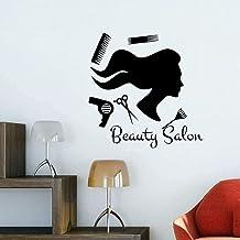 Adhesivo De Pared Para Salón De Belleza, Decoración, Adhesivo Para Pared, Vinilo Adhesivo, Calcomanía Para Pared, Peluquer...