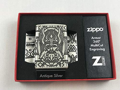 Zippo Odin Limited Edition 1000 Pieces 29525 Special Collection 2017 Sturmfeuerzeug Chrom Silber 6 X 4 X 2 Cm