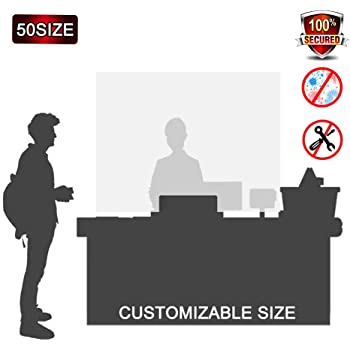 Mampara Mostrador Tienda, Protección contra la Tos protección contra Saliva, Pantalla Proteccion mostrador, Pantalla Flexible, Adaptable Portátil,50x50cm(AxA): Amazon.es: Hogar