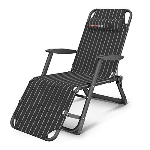 HH- Chaise Longue/Bain de Soleil Fauteuil Inclinable Très Résistant avec Coussins |Garden Outdoor Patio Sun Chaises Longues |Chaise De Camping Pliante
