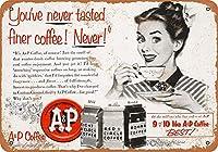 味わったより細かいコーヒーの壁錫サイン金属ポスターレトロプラーク警告サインヴィンテージ鉄の絵画の装飾オフィスの寝室のリビングルームクラブのための面白いハンギングクラフト